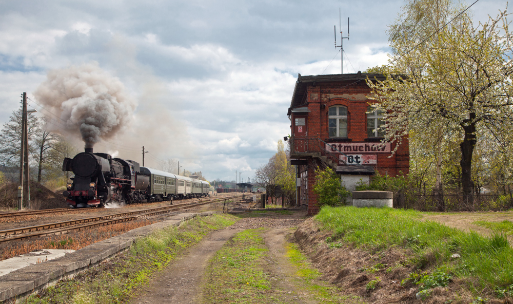Ausfahrt in Otmuchow (Ottmachau) ...