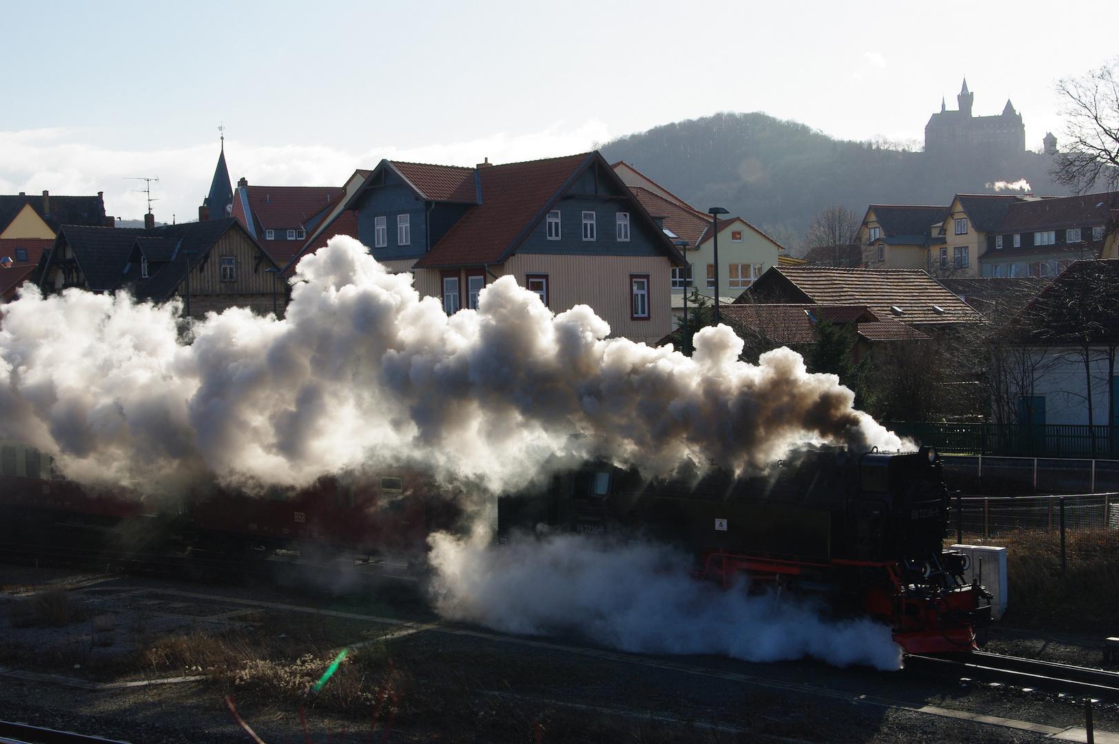 Ausfahrt Wernigerode / Harzquerbahn