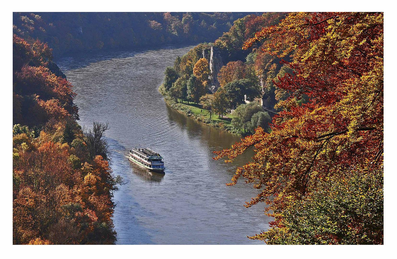 Ausflugsfahrt auf der Donau durch die Weltenburger Enge