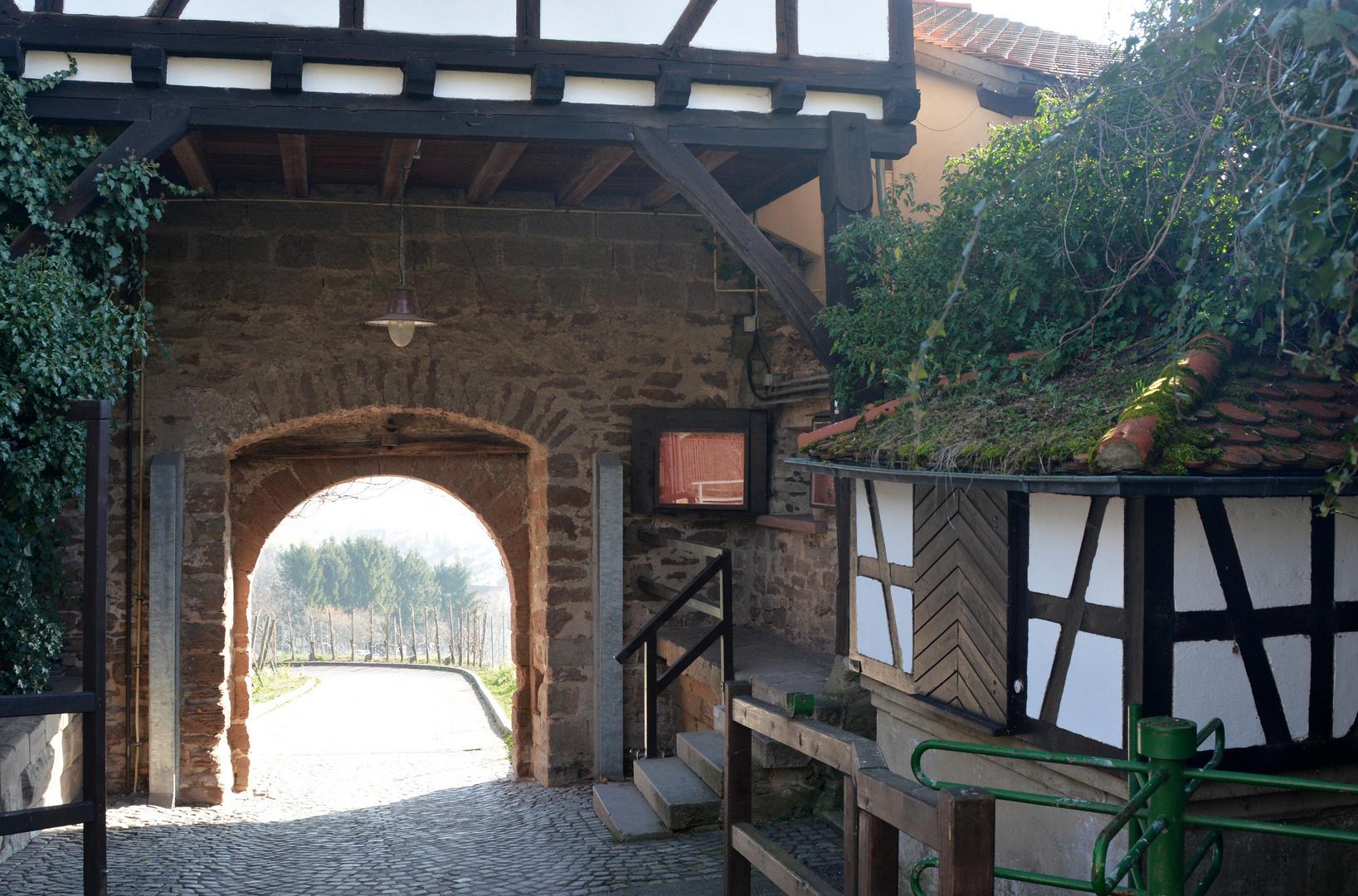 Ausgang von der Burg