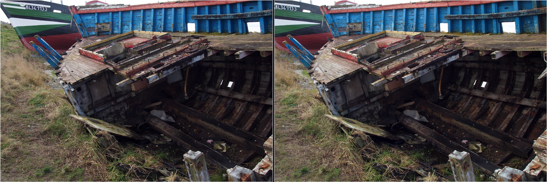 Ausgediente Schiffe in Le Crotoy
