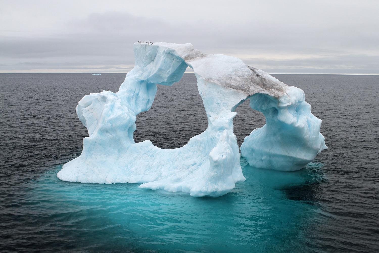 Ausgefräster Eisberg