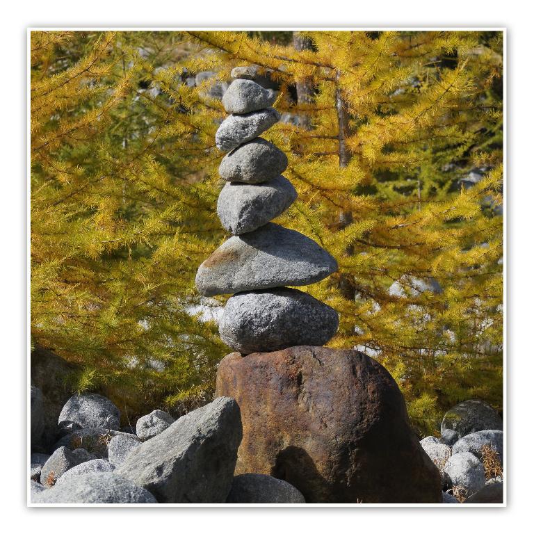 ausgeglichen und zentriert
