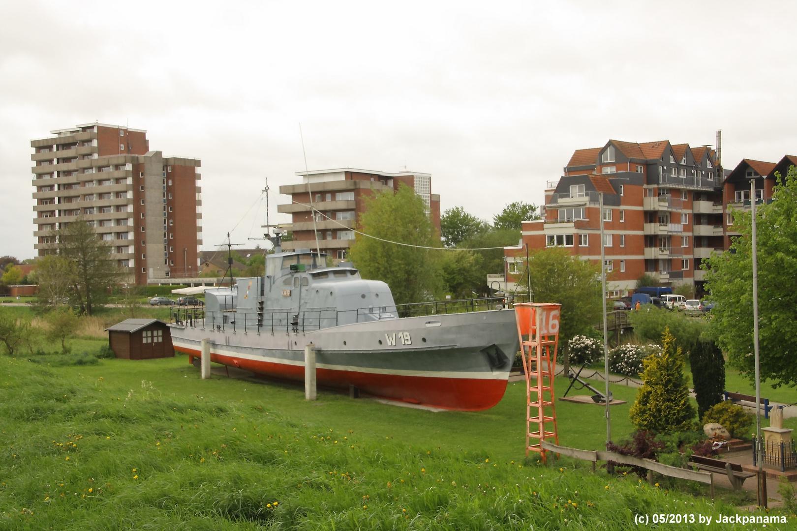 Ausgestelltes Küstenwachboot KW 19
