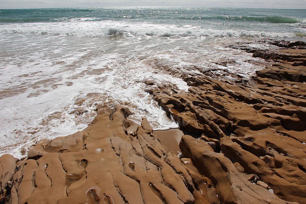 Ausgewaschene Steine