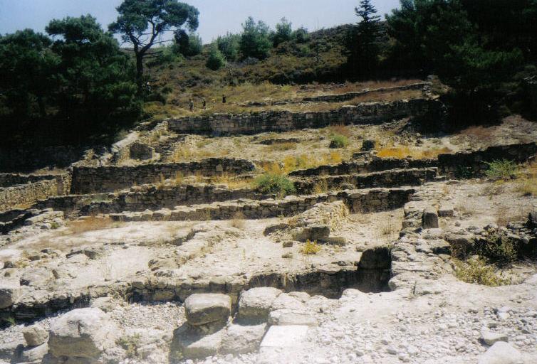 ausgrabungsstätte auch in rhodos