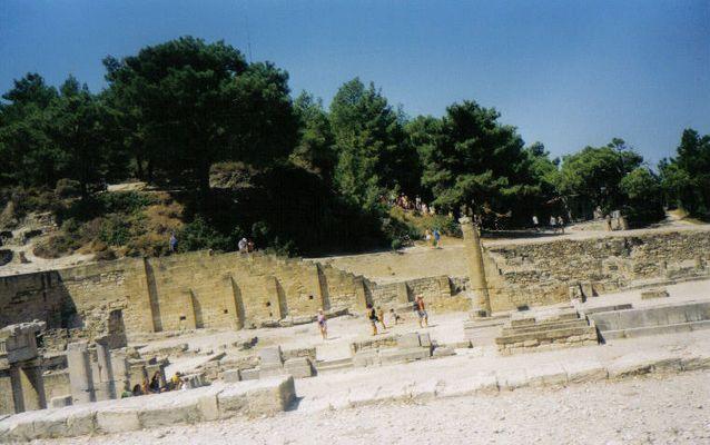 ausgrabungsstätte in rhodos