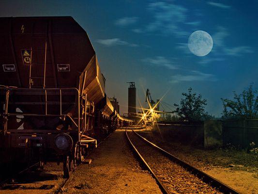 ausrangierter Güterzug