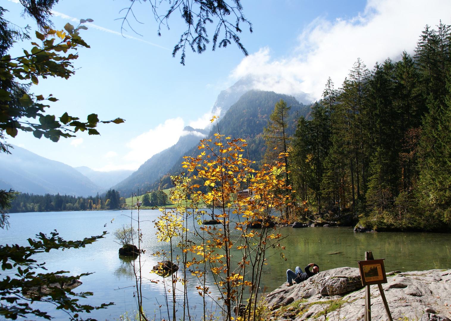 Ausruhen am Hintersee (Berchtesgaden)