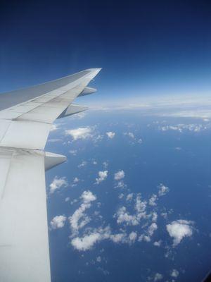 Aussblick vom Flugzeug