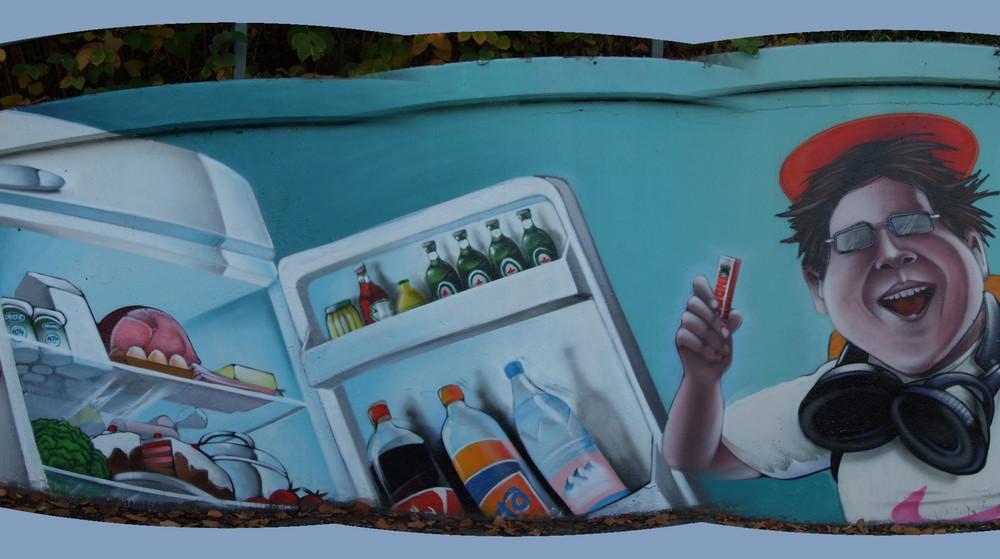 """Ausschnitt aus dem Graffiti """"Les Momes Du Monde"""" 2"""