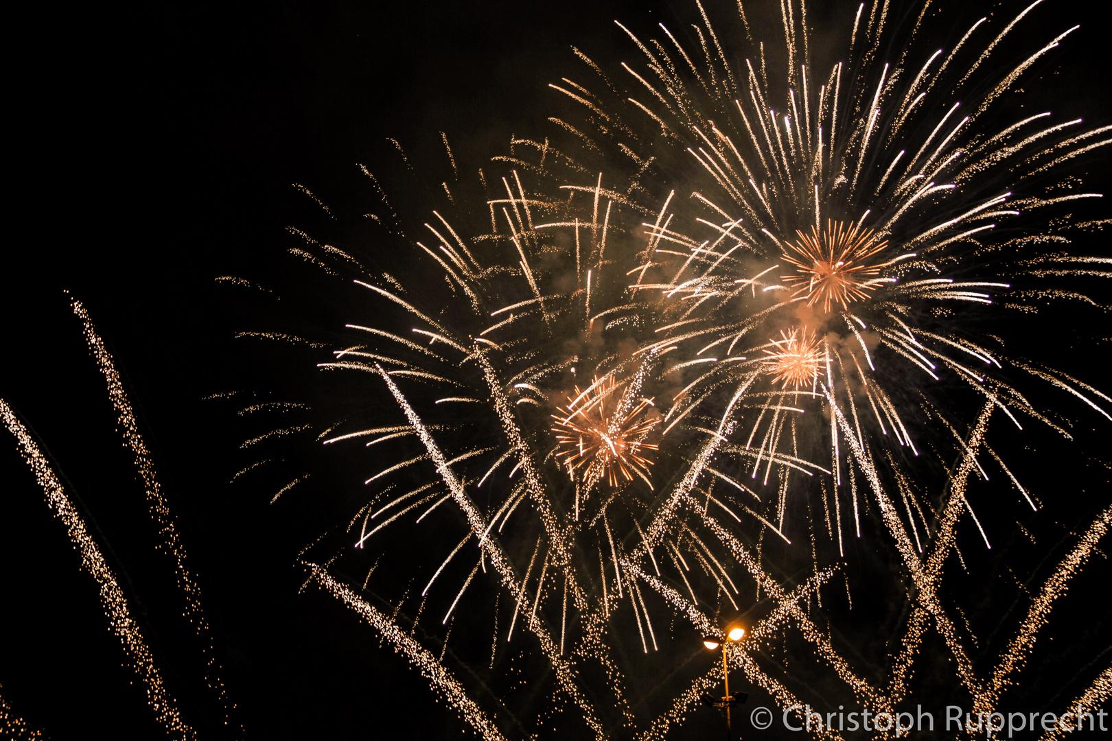 Ausschnitt aus einem italienischem Feuerwerk