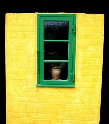 Ausschnitt einer Haus Fassade