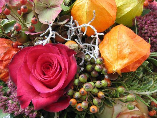 Ausschnitt eines Blumenstraußes