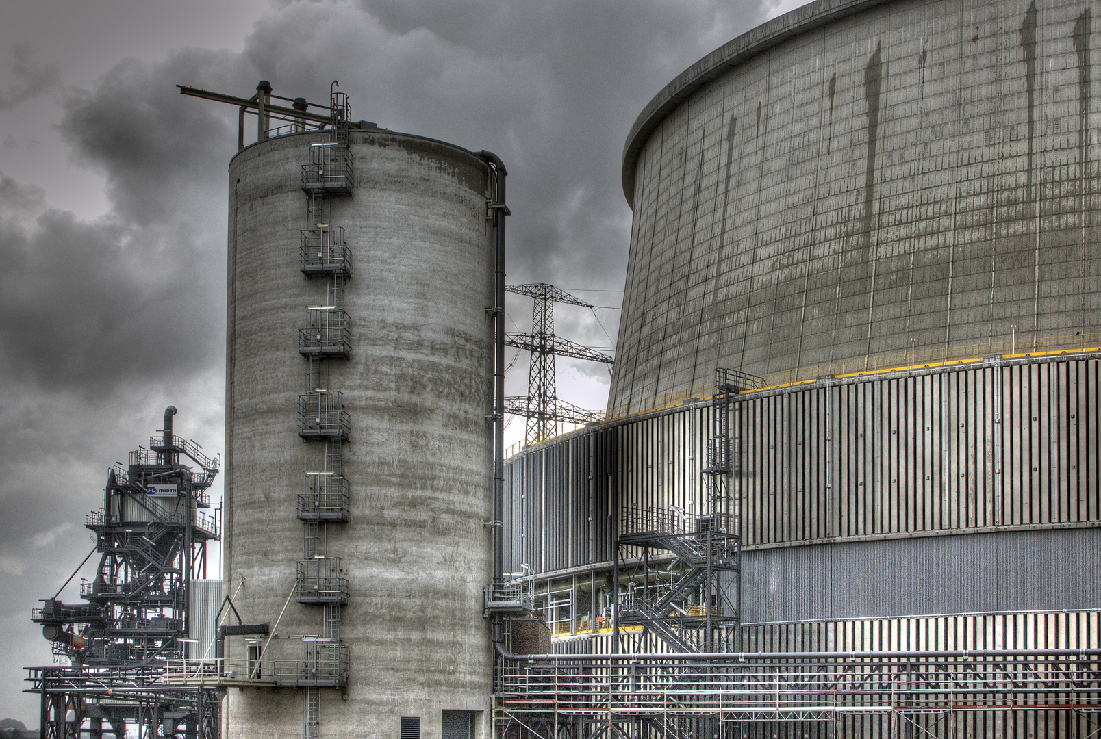 Ausschnitt Hybridkühlturm Kraftwerk Moorburg