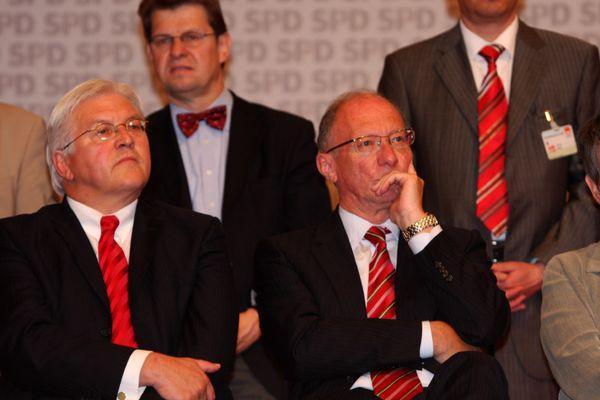 Außenminister Frank-Walter Steinmaier (SPD) und der bayerische Fraktionschef Franz Maget (SPD)