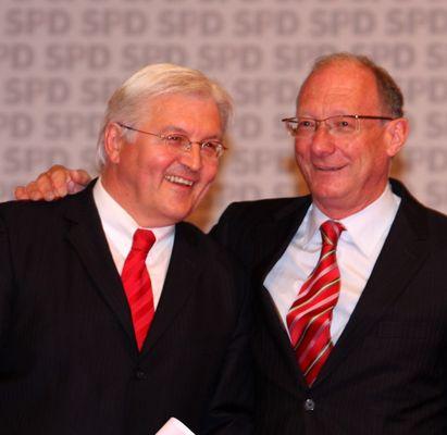 Außenminister Frank-Walter Steinmaier und SPD-Fraktionschef Franz Maget