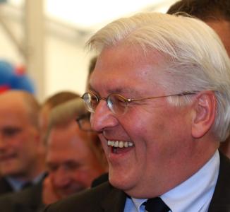 Außenminister Frank-Walter Steinmeier (SPD) in München-Trudering