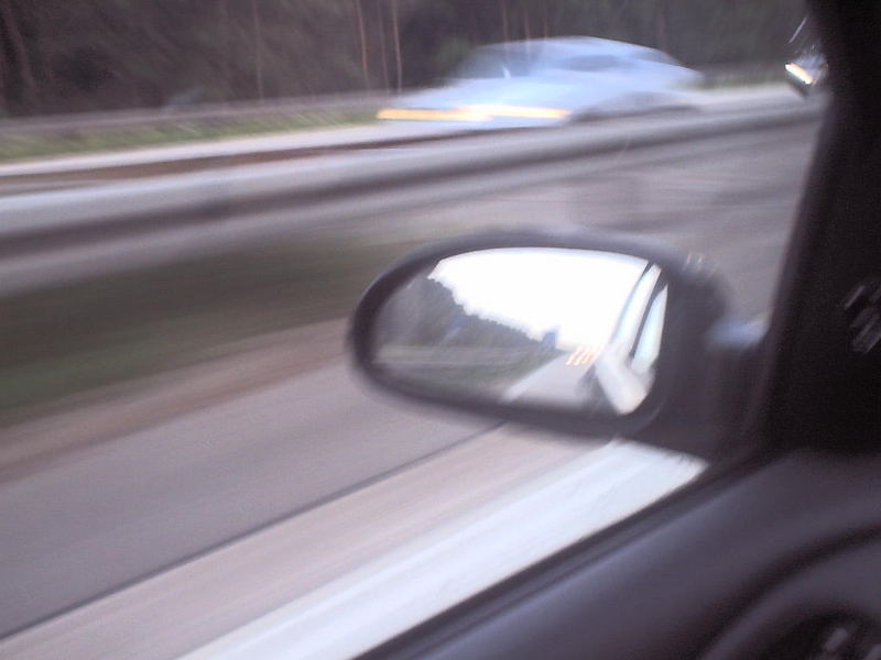 Außenspiegel bei 200 km/h