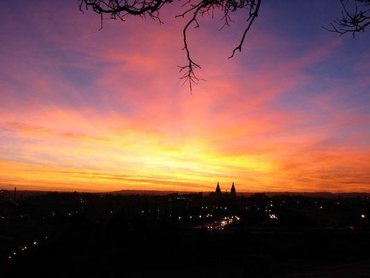 außergewöhnlicher Sonnenuntergang in Valletta