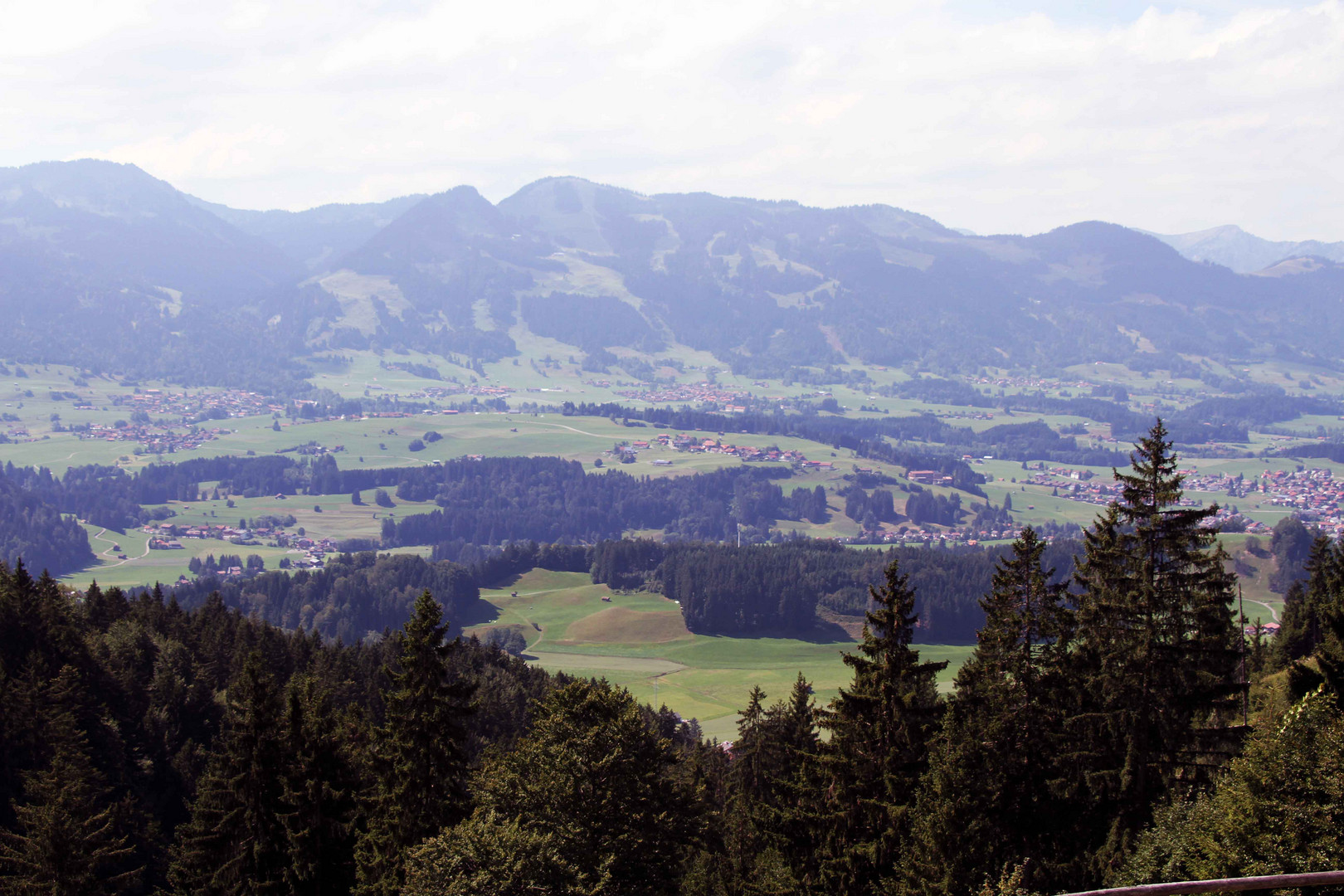 Aussicht auf Oberstdorf