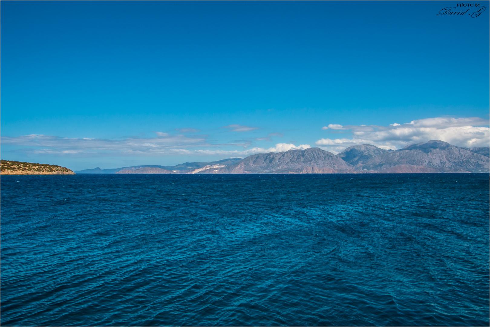 Aussicht vom Hafen Agios Nikolaos