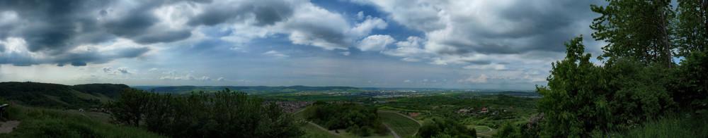 Aussicht vom Korber Kopf Panorama