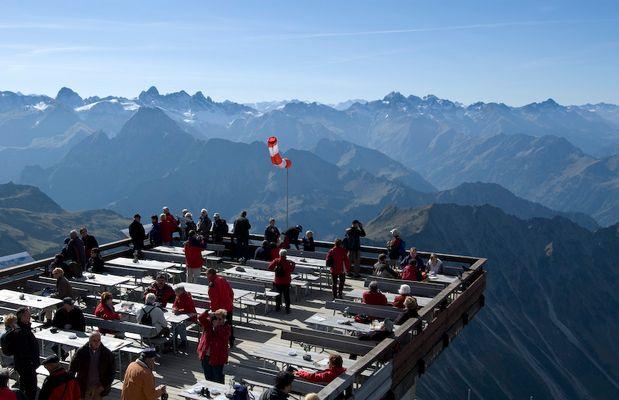 Aussicht vom Nebelhorn (Allgäu)