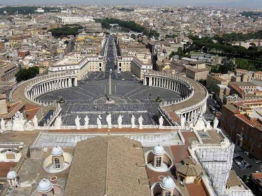 Aussicht vom Petersdom herab
