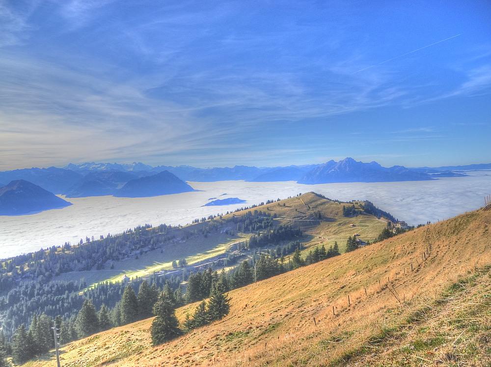 Aussicht vom Rigi Richtung Nebelmeer