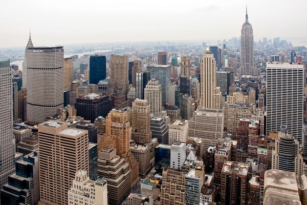 Aussicht vom Rockefeller Center in Manhattan