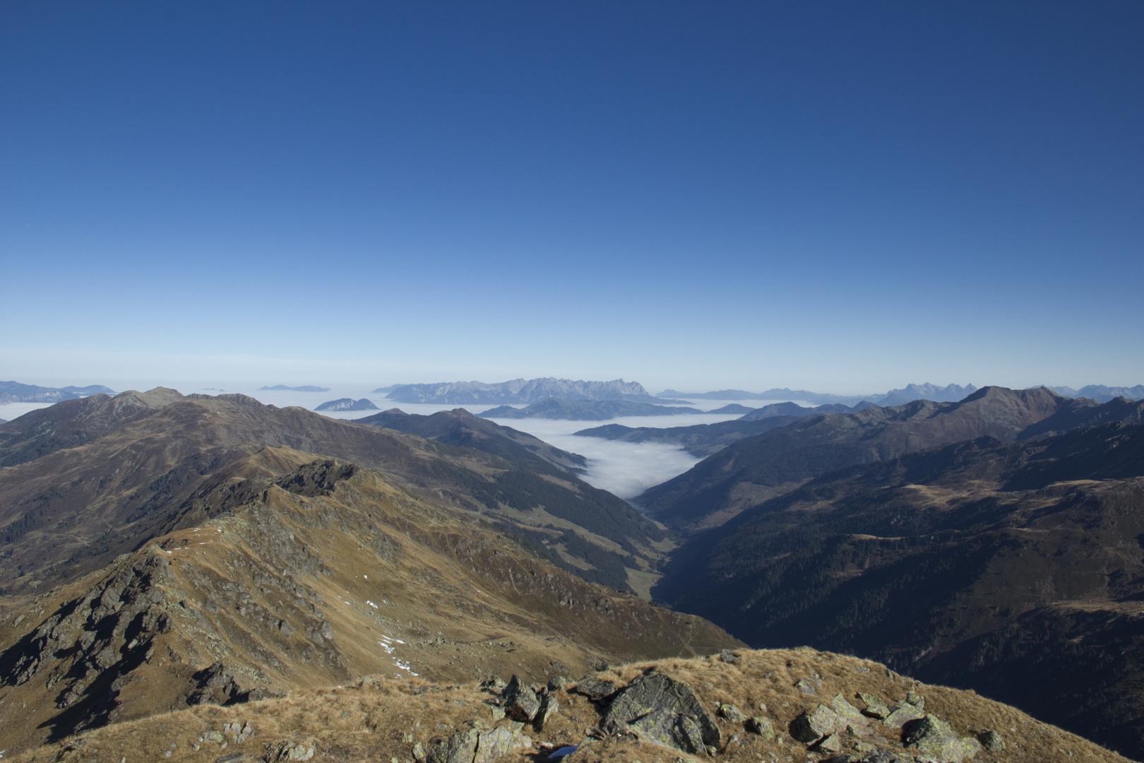 Aussicht vom Torhelm (Kitzbüheler Alpen, 2494 m)