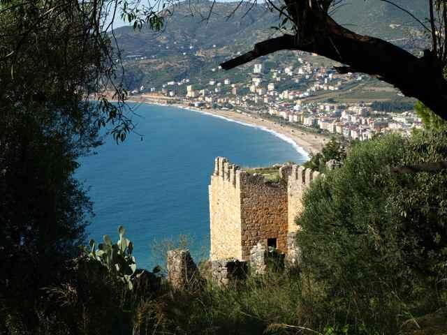 Aussicht von der Burg in Alanya