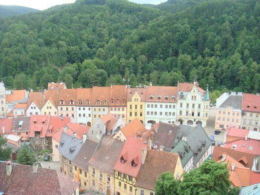 Aussicht von der Burg Loket