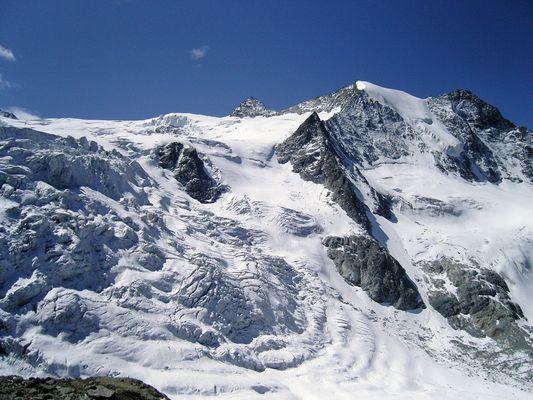 Aussicht von der Moiry Hütte auf 2850 Metern