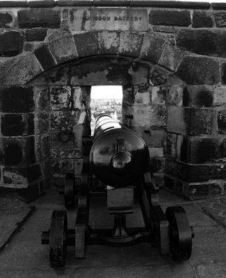 Aussichten eines Kanoniers von Edinburgh Castle SW