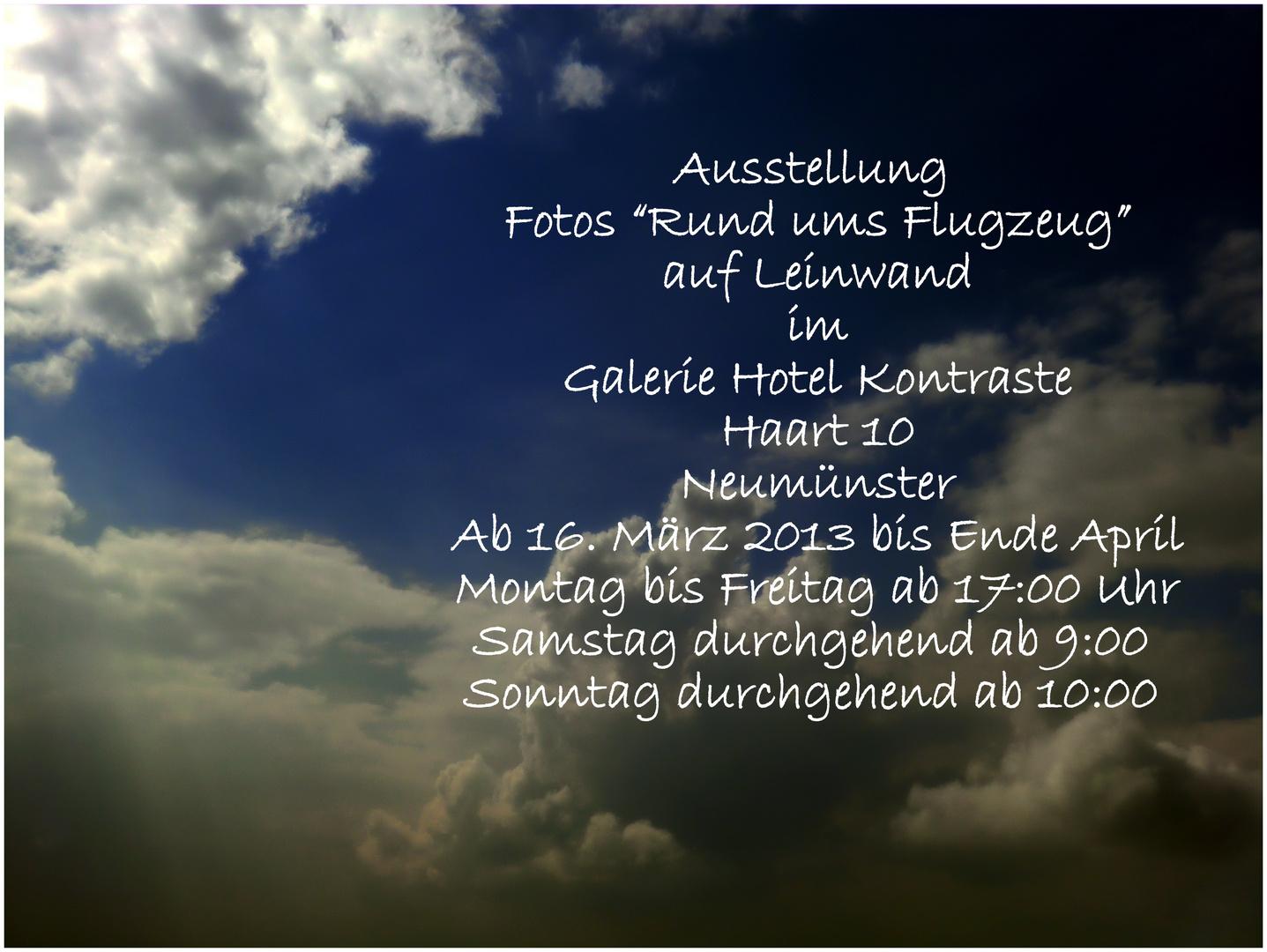 """Ausstellung: """"Fotos rund ums Flugzeug""""...auf Leinwand!"""