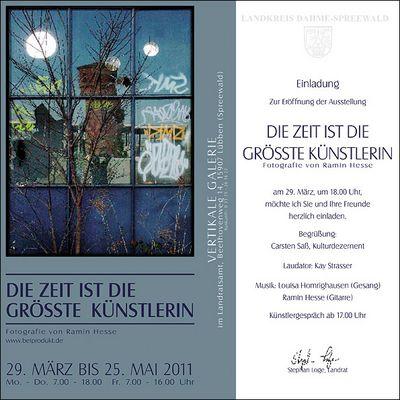 Ausstellung in Lübben / Spreewald / im Landratsamt / Vernissage am 29.03.11