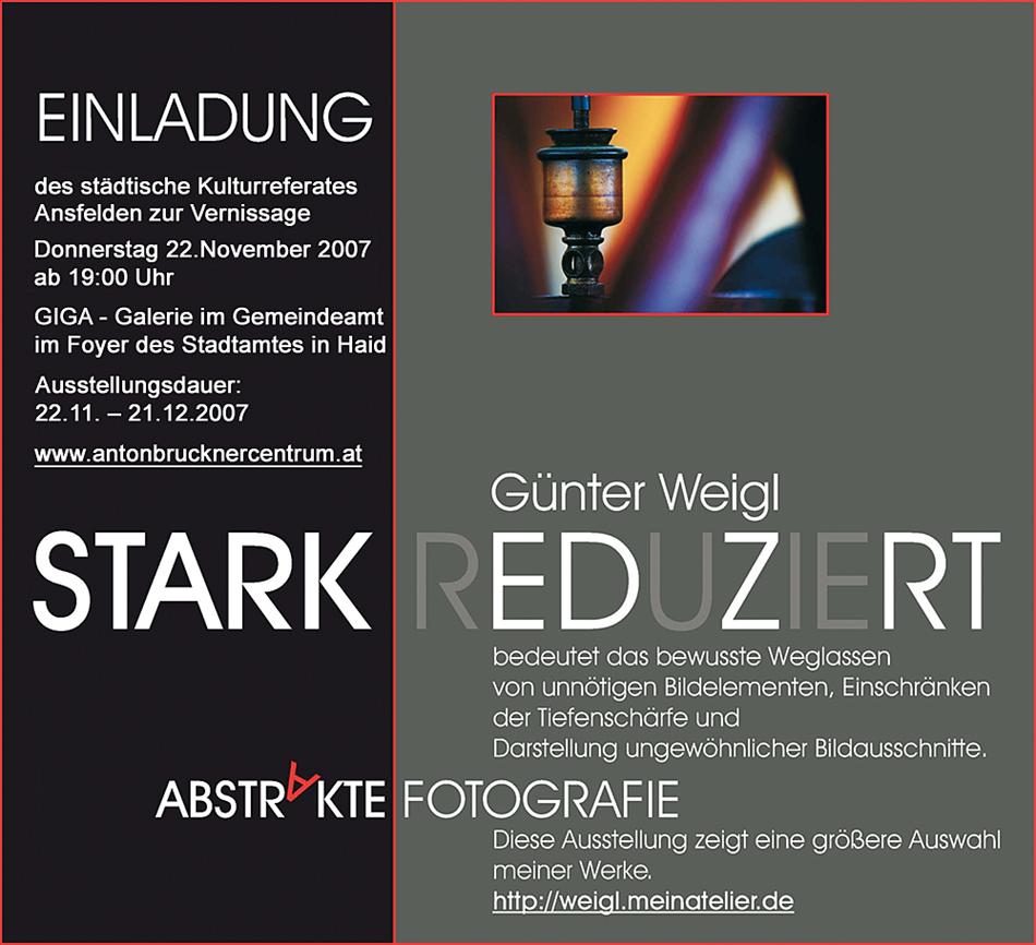 Ausstellung STARK REDUZIERT