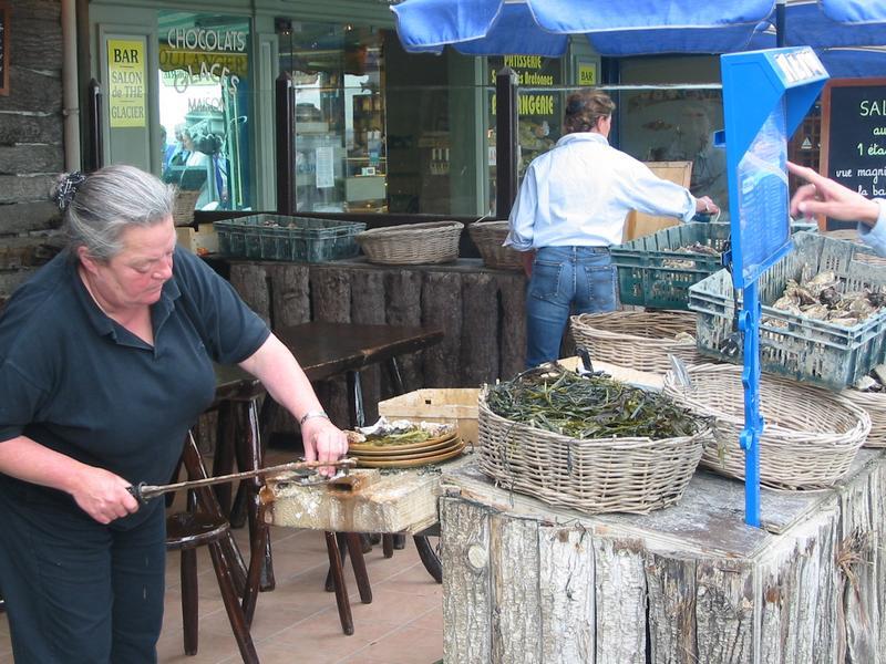 Austern knacken in Cancale