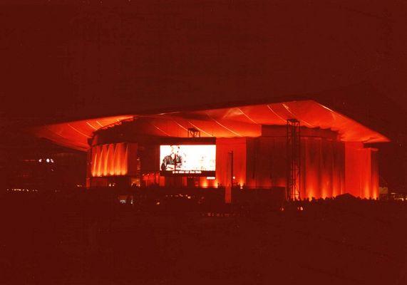 Australienpavillon bei Nacht auf der Expo in Hannover 2000