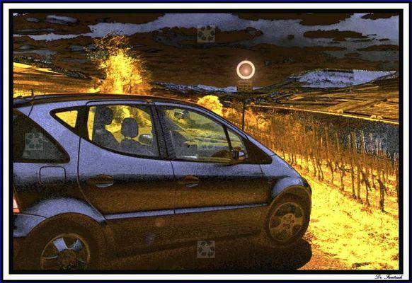 Auto an der Mosel