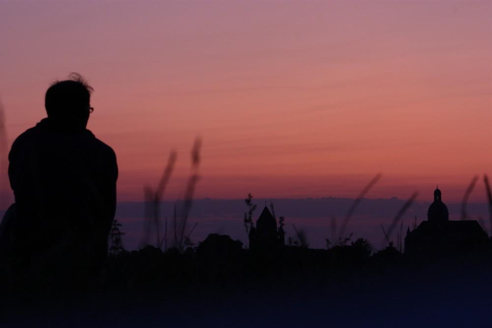 Auto-contemplation du lever de soleil