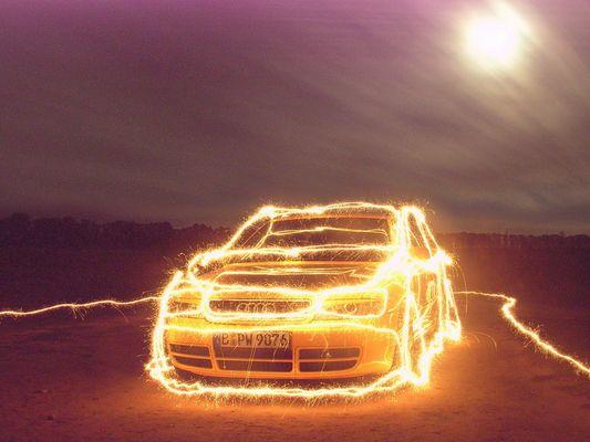 Auto - Wunderkerzenmalerei - 1 von 3 (Serie) - Audi S4 (B5)