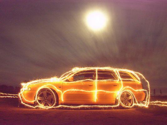 Auto - Wunderkerzenmalerei - 2 von 3 (Serie) - Audi S4 (B5)