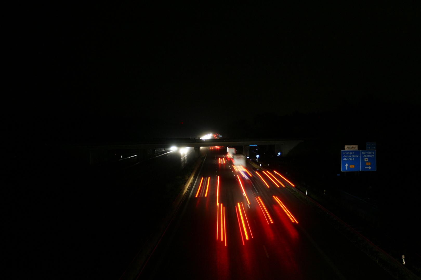 Autobahn A3 bei Erlangen-Tennenlohne
