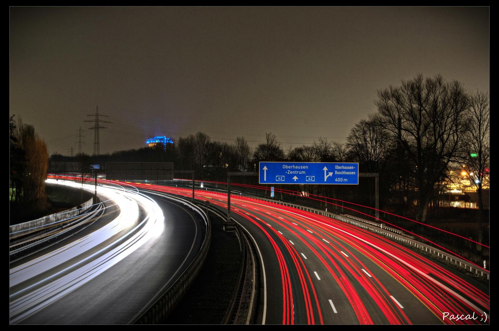 Autobahn A42 in Oberhausen