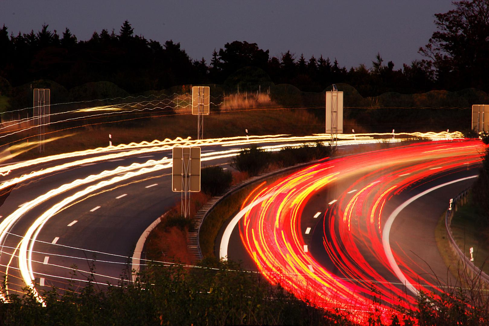Autobahn A72 Langzeit