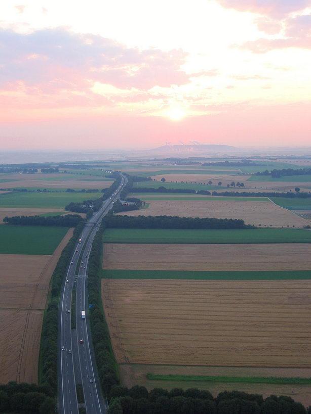 Autobahn am Morgen