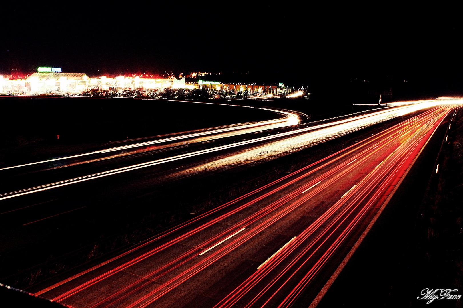 Autobahn Aufnahme in Chemnitz